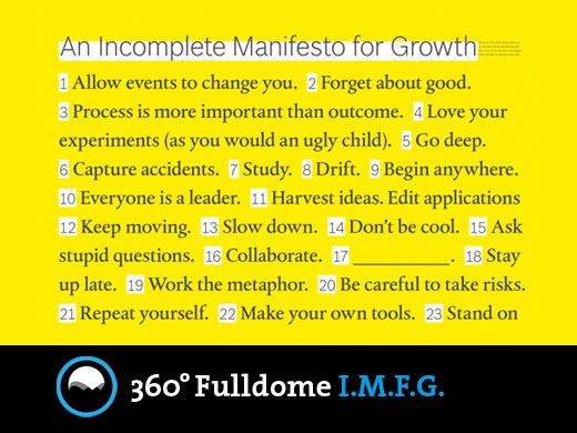 360° Fulldome. An Incomplete Manifesto for Growth