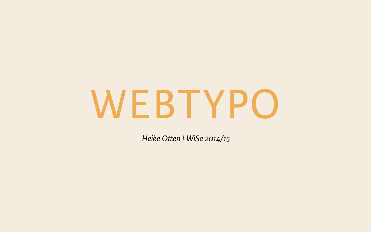 Webtypo - Heike Otten