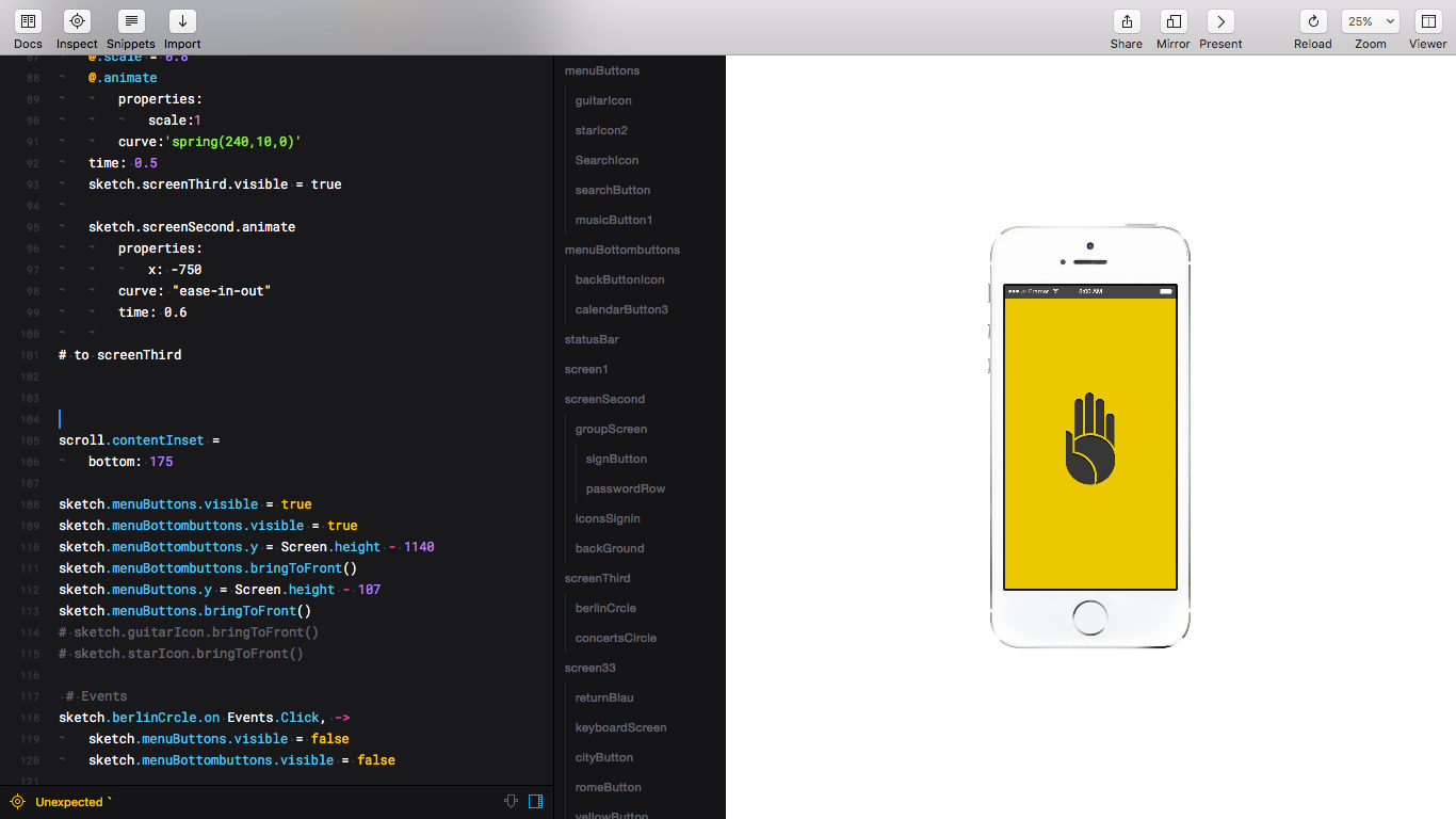 Prototyping an App