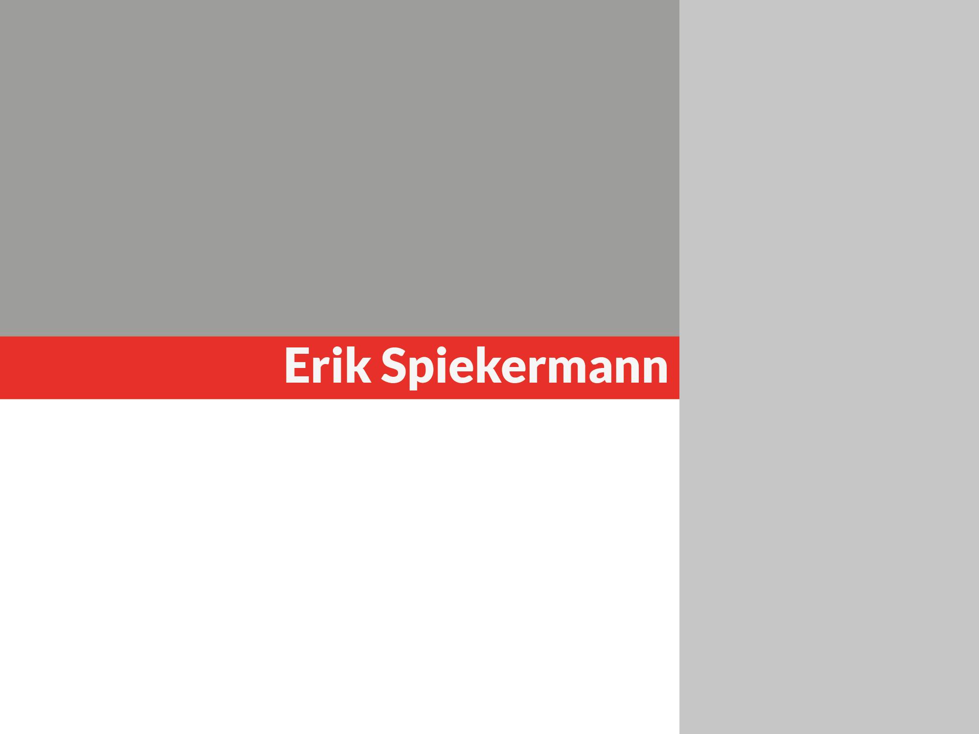 Design Persönlichkeiten: Erik Spiekermann