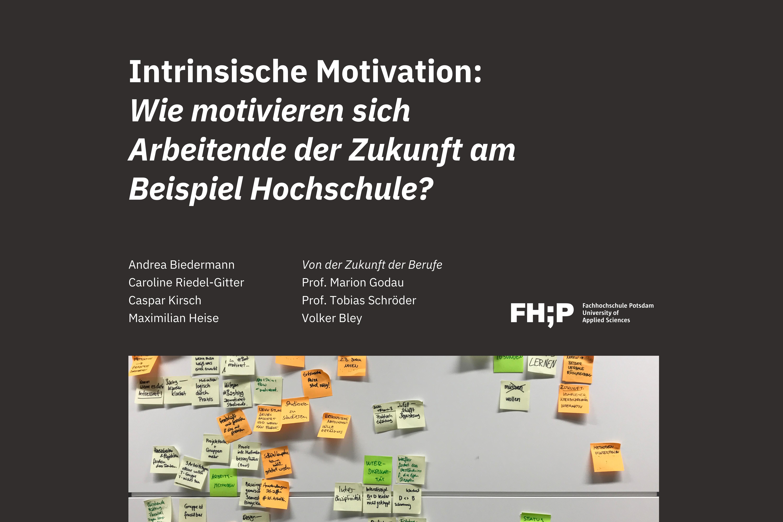 Intrinsische Motivation: Wie motivieren sich Arbeitende der Zukunft am Beispiel Hochschule?