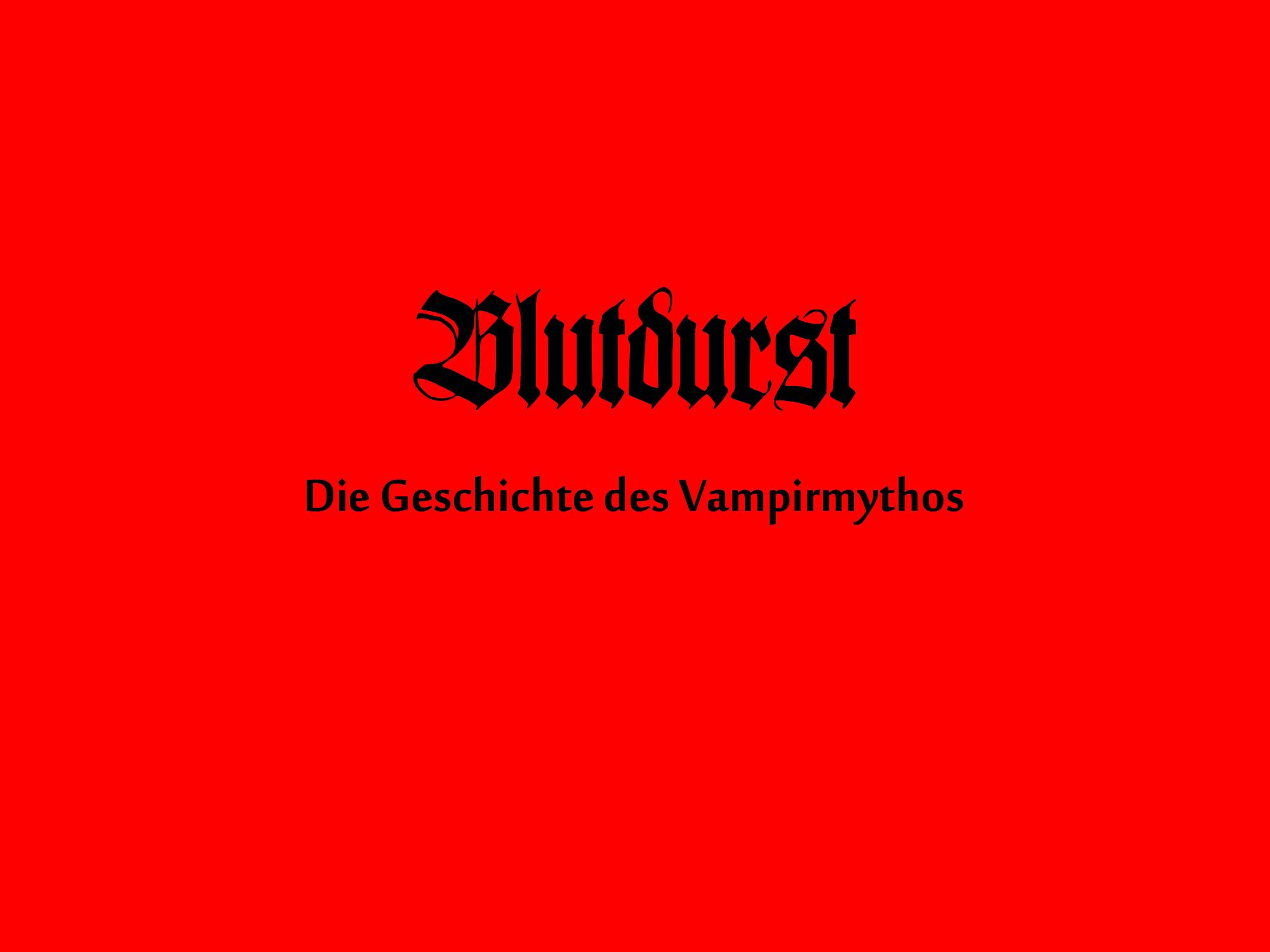 Erklärfilm zur Entwicklung und Symbolik des Vampirmythos in Europa