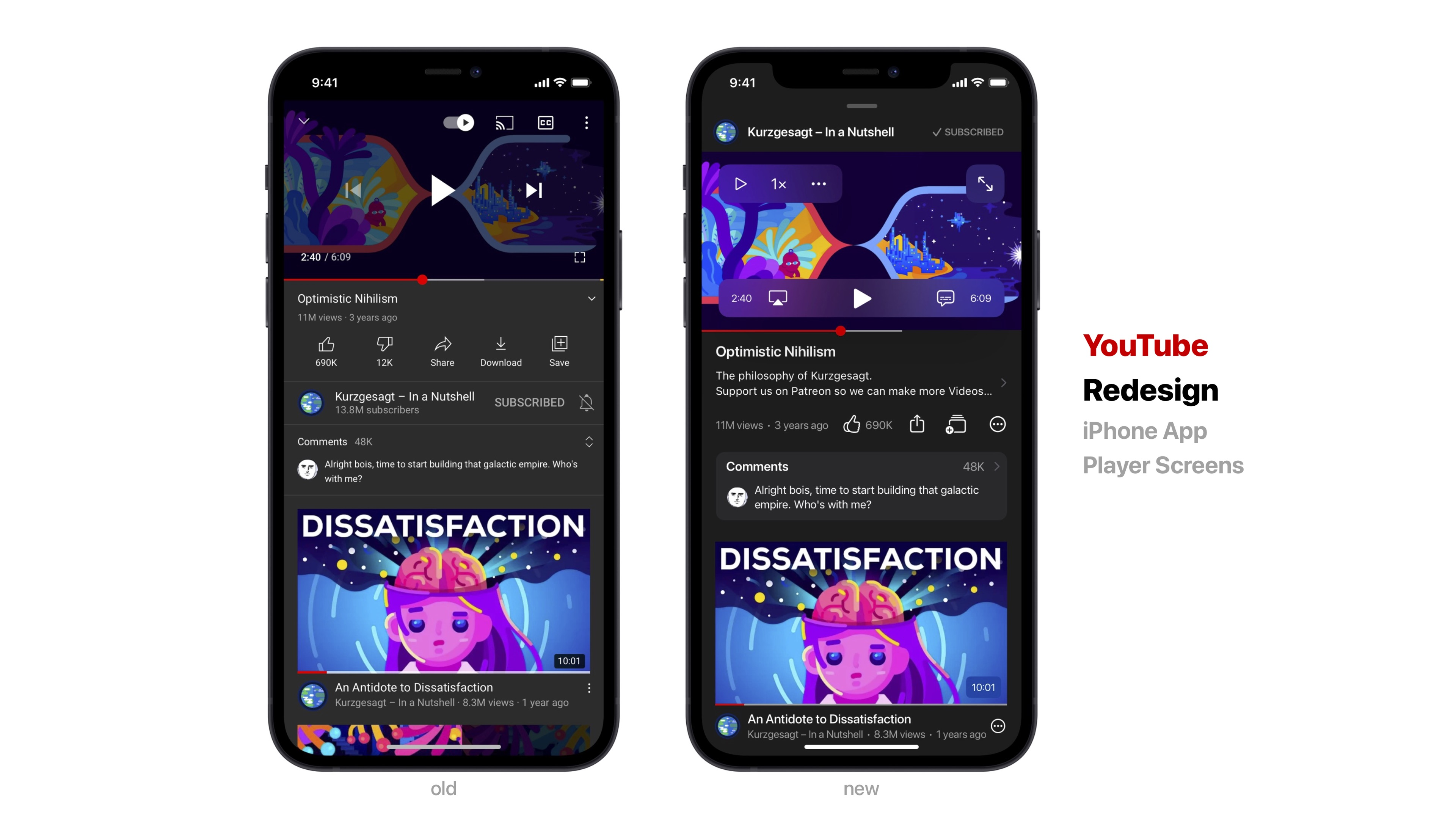 ANALYSE – YouTube Redesign
