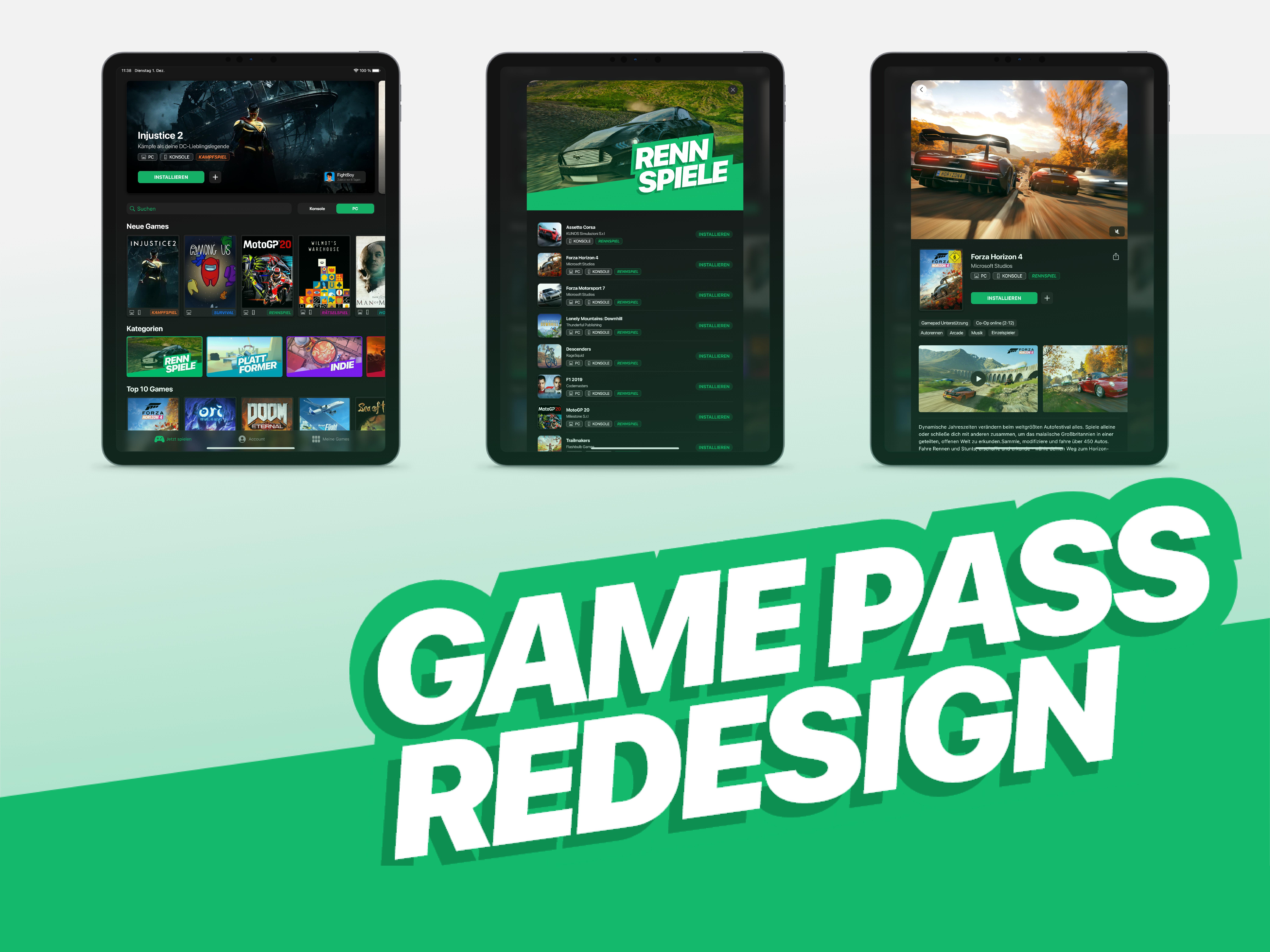 Game Pass Redesign