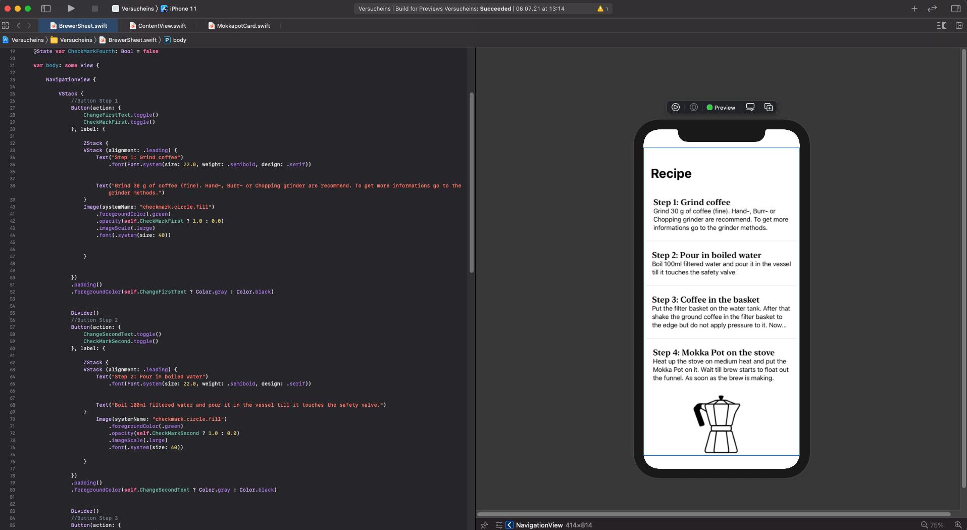 SwiftUI Coffee App