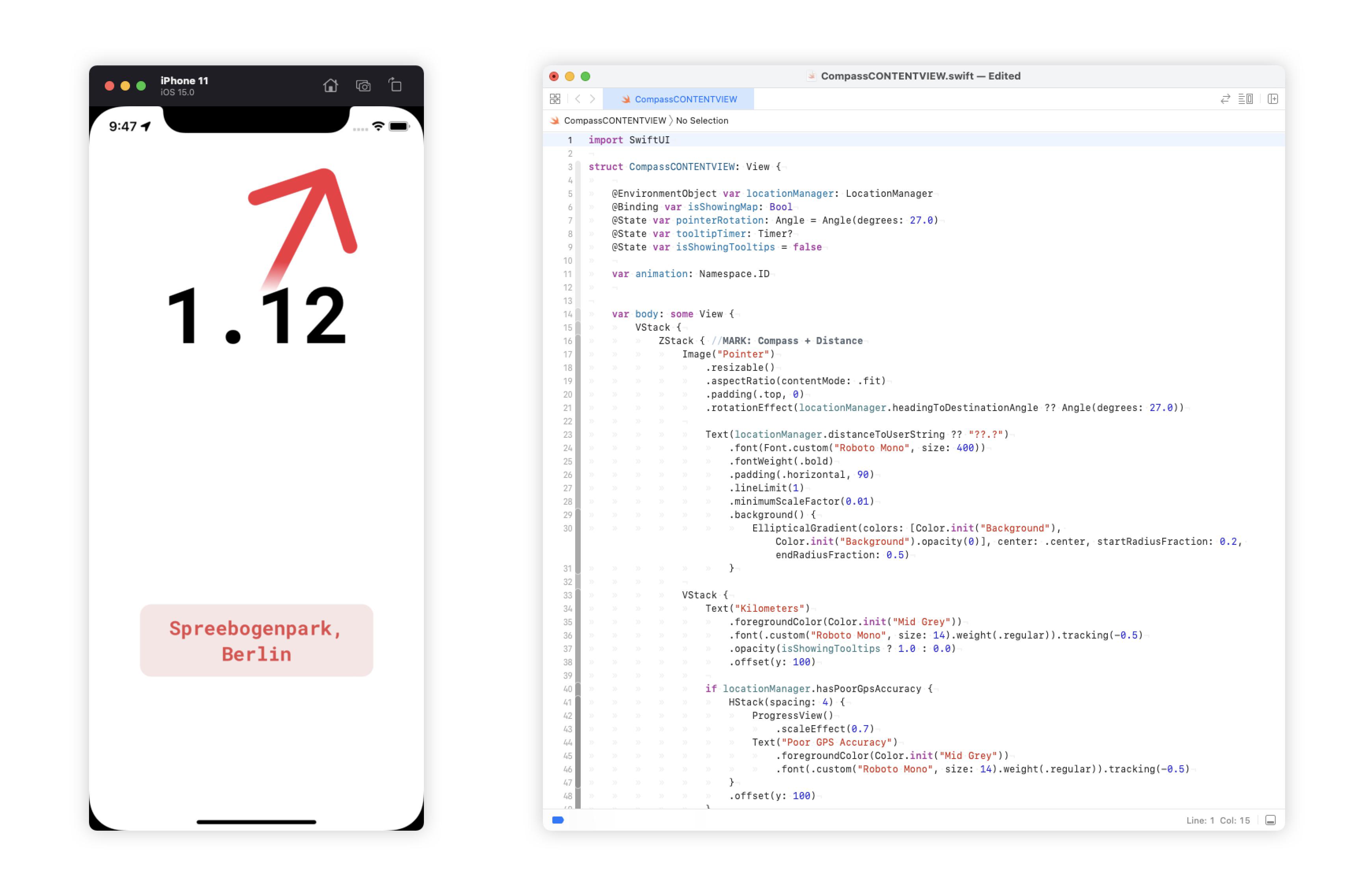 Pointer - gebaut mit SwiftUI