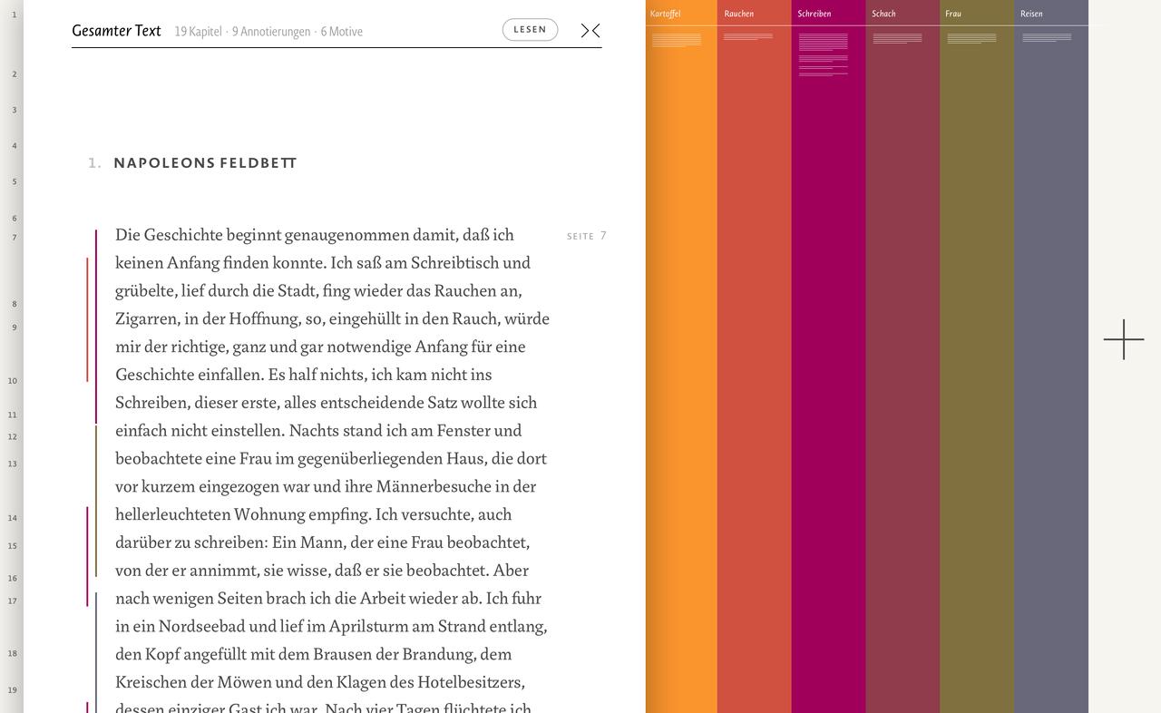 MODAL - Visualisierung literarischer Narrative