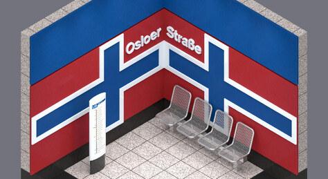 Projektwoche | U-Bahnhof Osloer Straße