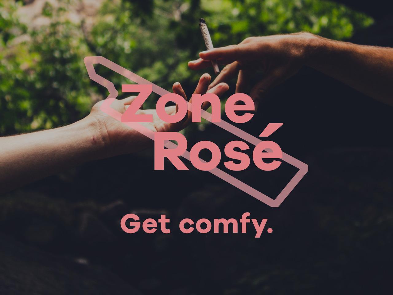 Zone Rosé – Get comfy.