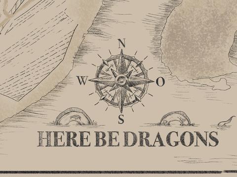 here be dragons- eine illustrative Karte Potsdams