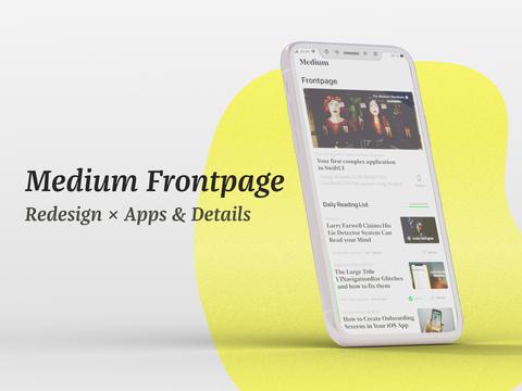 Medium Frontpage Redesign