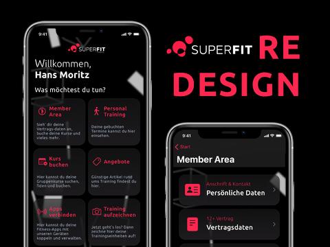 Redesign – SuperFit App/Member Area